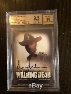 2012 The Walking Dead Season 2 Andrew Lincoln/rick Grimes Autograph. Bgs 9.5/10