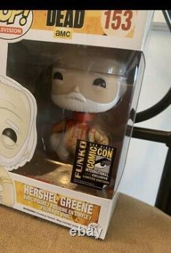 2014 Comic Con Hershel Greene Funko Pop & Daryl Walmart Exclusive