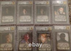 2014 Season 3 Cryptozoic The Walking Dead BGS Autograph Auto (8) Card Lot
