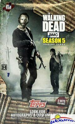2016 Topps Walking Dead Season 5 HUGE Factory Sealed HOBBY BOX with 2 HITS