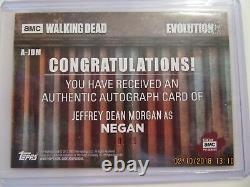 2017 Topps The Walking Dead Evolution NEGAN AUTO J. DEAN MORGAN 60/99
