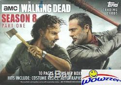 2018 Topps AMC The Walking Dead Season 8 Sealed 16 Box Blaster CASE-16 HIT