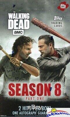 2018 Topps The Walking Dead Season 8 Factory Sealed HOBBY 8 Box CASE-16 HITS