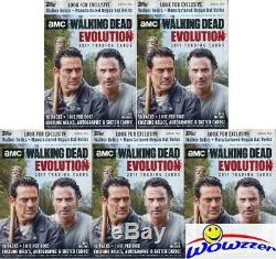 (5) 2017 Topps AMC The Walking Dead EVOLUTION SPECIAL Blaster Box-5 HITS