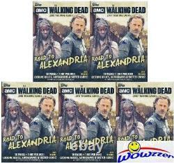 (5) 2018 Topps AMC The Walking Dead Road to Alexandria HUGE Blaster Box-5 HITS