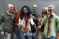 6 Zombie Horde The Walking Dead Haunted House Halloween Prop & Decoration