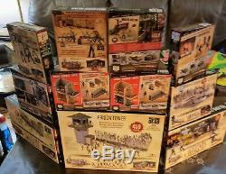 AMC The Walking Dead Mcfarlane Collectible Building Sets/Figures Lot Of 11