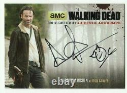 Andrew Lincoln As Rick Grimes The Walking Dead Season 4 P1 Auto #al2 Sketch 1/1