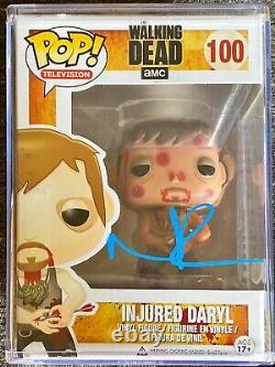 Autographed FUNKO POP! With Protector- Walking Dead Daryl Dixon JSA Certified