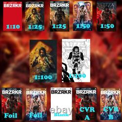 BRZRKR #1 Pre-Order 12 Covers 1100(x2), 150(x2), 125(x2), 110, Foilx2, &MORE