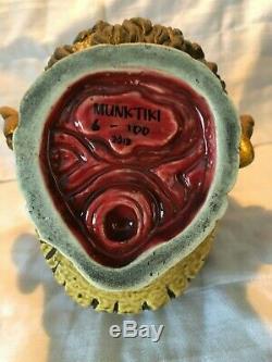 BURNT ZOMBIE SKULL Tiki MugMUNKTIKI6/100 Farm Walking Dead Head horror movie