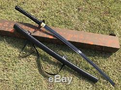 Black Blade 1095 Steel Walking Dead Katana Japanese samurai sword Real Combat