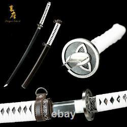 CLAY TEMPERED T10 STEEL Walking Dead Sword-Michonne's Katana Zombie Killer Blade
