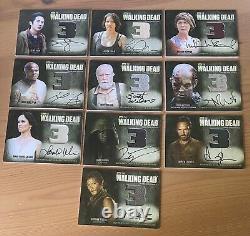 Cryptozoic The Walking Dead Season 3 Part 1 & 2 Autograph Wardrobe Complete Set