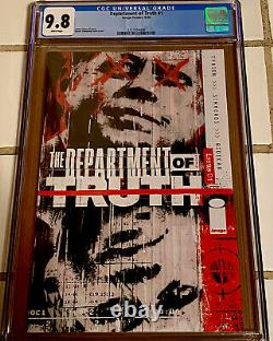 DEPARTMENT of TRUTH #1 COVER A 1ST PRINT CGC 9.8 (IMAGE) 2020 James Tynion NM+