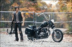 Daryl Dixon with Chopper Bike Motorrad The Walking Dead Action Figur McFarlane