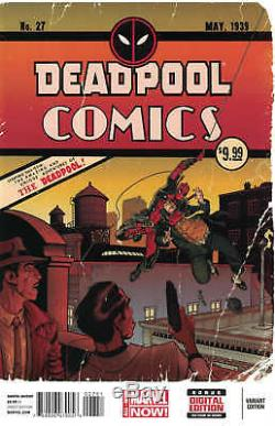 Deadpool #27 150 Art Adams Variant Detective Batman Homage Marvel 2012