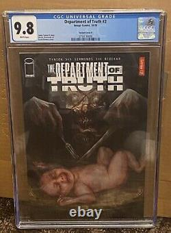 Department Of Truth #2 CGC 9.8 125 Cover D Variant Low Census Pop