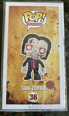 Funko Pop! THE WALKING DEAD TANK ZOMBIE Fugitive Toys Exclusive #36- RARE