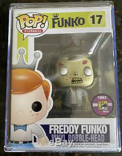 Funko Pop! WALKING DEAD FREDDY FUNKO WALKER 2013 Comic Con 240 Piece #17- RARE