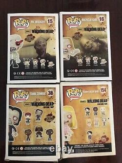Funko Pop Walking Dead Walker Lot (15, 16, 36, 154)