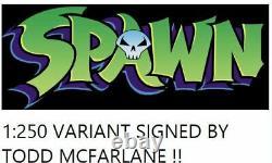 GUNSLINGER SPAWN #1 1250 VARIANT SIGNED BY TODD MCFARLANE COA Presell10/13