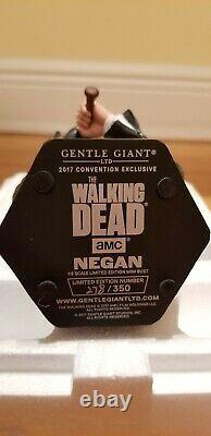 Gentle Giant SDCC 2017 Exclusive The Walking Dead Neegan Bust 278/350 RARE