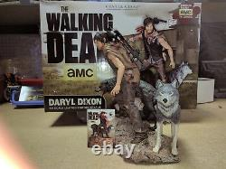 Gentle Giant Walking Dead Daryl Dixon & the Wolves Exclusive Statue Signed C. O. A