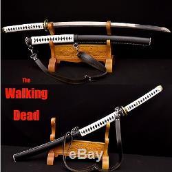 Handmade Japanese Walking Dead Swords Michonne's Katanas Zombie Killer Sharp