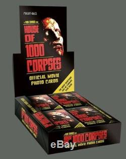 House Of 1000 Corpses Trading Card Box Of 24 Packs Sealed Fright Rags Rob Zombie