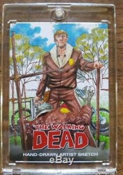 Huge Walking Dead Autograph Relic Auto Sketch Card Collection Lot Must See