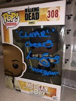 Lennie James Morgan Signed Autographed Funko Pop Walking Dead Beckett Bas Coa