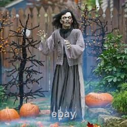 LifeSize Walking Dead Animated Zombie Female RARE Halloween Moans See Video