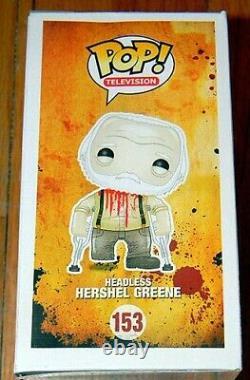 NEW FUNKO POP HEADLESS HERSHEL WALKING DEAD SDCC 2014 EXCLUSIVE Bloody