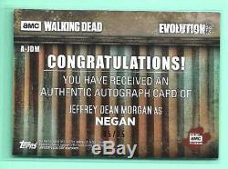Negan Jeffrey Dean Morgan Walking Dead Evolution Green Autograph #5/25 Signed