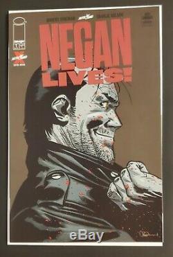 Negan Lives #1 Red Foil Variant Rare Walking Dead Kirkman