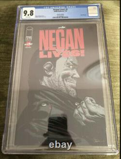 Negan Lives! #1 Ruby Red Foil Variant CGC 9.8 NM/MT Rare Walking Dead 500
