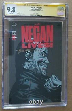 Negan Lives! #1 Walking Dead CGC 9.8 SIGNED BY ROBERT KIRKMAN 1 of 50 Made