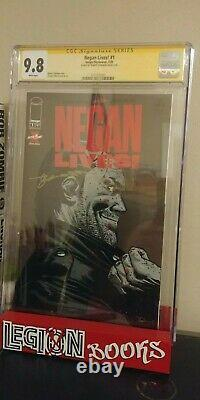 Negan Lives Issue #1 Signed By Robert Kirkman Cgc Ss 9.8 Now In Hand