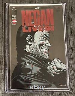 Negan Lives! Red Foil Skybound Ruby Variant NM+ Walking Dead (Top Loader)