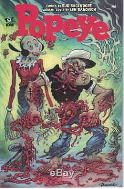 Popeye Classic 65 110 Len Danovich Zombie Variant NM IDW Walking Dead Marvel 30