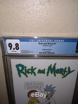 Rick and Morty #1 CGC 9.8 Roiland Variant 150 NM/Mint HTF