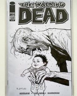 Ryan Ottley Original Art Sketch The Walking Dead Blank Sketchcover