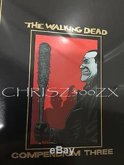 SDCC 2016 Comic Con The Walking Dead Compendium 3 Three Hardcover Book GOLD FOIL