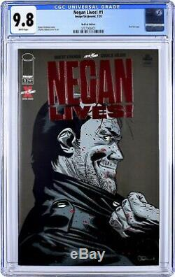 Ships Today Negan Lives Red Foil Cgc 9.8 The Walking Dead