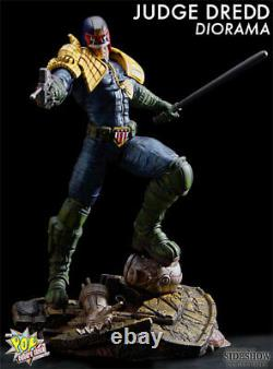 Sideshow / Pop Culture Shock Judge Dredd Diorama Exclusive Statue! Only 150 Made