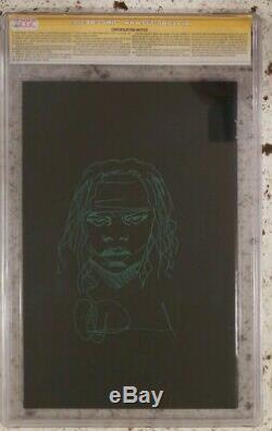 Signed Sketch Walking Dead Governor 1 Michonne CGC 9.8 193 Charlie Adlard 19