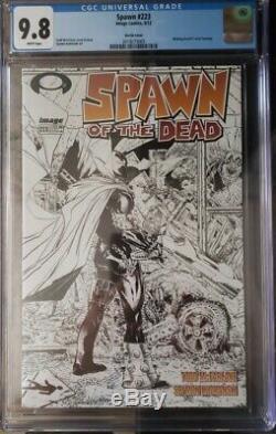 Spawn #223 Walking Dead Sketch Variant CGC 9.8 Read Description