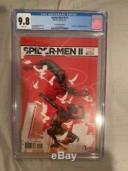 Spider-Men II #1, CGC 9.8, 150 Tedesco Variant, 1st App of Evil Miles Morales