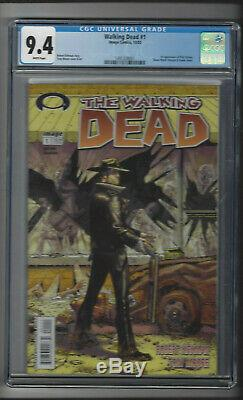 THE WALKING DEAD #1 CGC 9.4 WHITE (1491328001) SKYBOUND (1st PRINT) Kirkman 2003